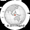 Outline Map of Gowa Regency, rectangular outline