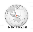 Outline Map of Maluku, rectangular outline
