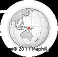 Outline Map of Oksapmin Airstrip, rectangular outline