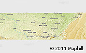 "Physical Panoramic Map of the area around 5° 4' 25"" S, 15° 22' 30"" E"