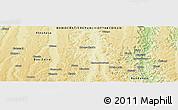 Physical Panoramic Map of Zikalaba