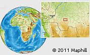 Physical Location Map of Yumbu-Yumbu