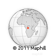 "Outline Map of the Area around 5° 4' 25"" S, 18° 46' 29"" E, rectangular outline"