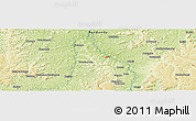 """Physical Panoramic Map of the area around 5°4'25""""S,18°46'29""""E"""