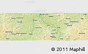 Physical Panoramic Map of Yumbu-Yumbu