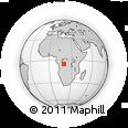 Outline Map of Mangalangongo, rectangular outline