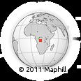 Outline Map of Shatongo, rectangular outline