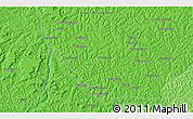 Political 3D Map of Bakwa-Kwanga