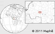 Blank Location Map of Bakwa-Kwanga