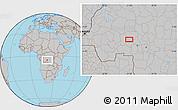 Gray Location Map of Bakwa-Kwanga
