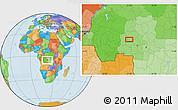 Political Location Map of Bakwa-Kwanga