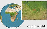 Satellite Location Map of Bakwa-Kwanga