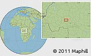 Savanna Style Location Map of Bakwa-Kwanga