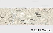 Shaded Relief Panoramic Map of Bakwa-Kwanga