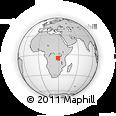 Outline Map of Lambo Katenga, rectangular outline