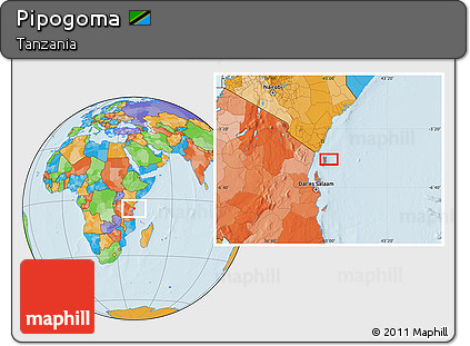 Free Political Location Map of Pipogoma