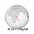 Outline Map of Pemba Island, rectangular outline