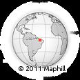 Outline Map of Teresina, rectangular outline