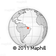 Outline Map of Presidente Dutra, rectangular outline