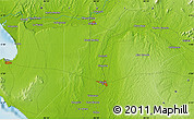 """Physical Map of the area around 5°4'25""""S,80°40'30""""W"""