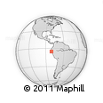 """Outline Map of the Area around 5° 4' 25"""" S, 80° 40' 30"""" W, rectangular outline"""