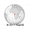 Outline Map of Wanga, rectangular outline
