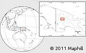 Blank Location Map of Porgera
