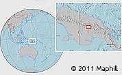 Gray Location Map of Porgera, hill shading