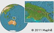 Satellite Location Map of Porgera