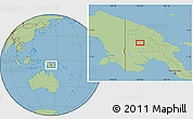 Savanna Style Location Map of Porgera