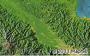 "Satellite Map of the area around 5°35'51""S,145°25'30""E"
