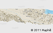 Shaded Relief Panoramic Map of Aiambi