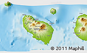 """Physical 3D Map of the area around 5°35'51""""S,147°58'29""""E"""
