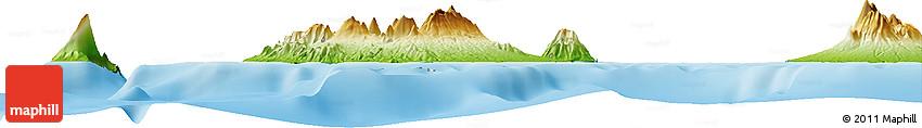 Physical Horizon Map of Laut