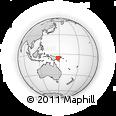 "Outline Map of the Area around 5° 35' 51"" S, 147° 58' 29"" E, rectangular outline"
