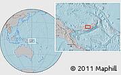 Gray Location Map of Babata, hill shading