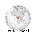 Outline Map of Mwanga, rectangular outline