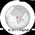 Outline Map of Zalala, rectangular outline