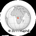 Outline Map of Zemba, rectangular outline