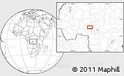Blank Location Map of Kalonji-Tshikunga