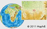 Physical Location Map of Kalonji-Tshikunga