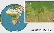 Satellite Location Map of Kalonji-Tshikunga