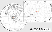 Blank Location Map of Kasisa