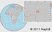 Gray Location Map of Kasisa