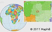 Political Location Map of Mpoyi