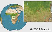 Satellite Location Map of Kasisa