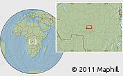 Savanna Style Location Map of Mpoyi, hill shading