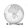 Outline Map of Mpoyi, rectangular outline