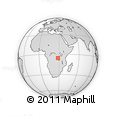 Outline Map of Kalima, rectangular outline