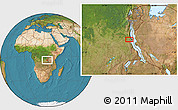 Satellite Location Map of Lukumbo